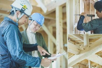 住宅の品質を左右するのは 職人の技術です